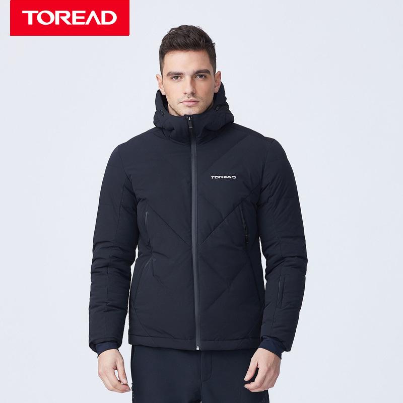 探路者滑雪衣 18秋冬新款户外男式滑雪羽绒服KADG91607