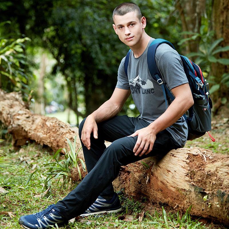 探路者徒步裤 春夏户外运动男士速干弹力透气薄款长裤KAMG81529