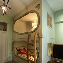 创意儿童床双层床美式家具实木床欧式高低床上下床高架床乐居贝贝