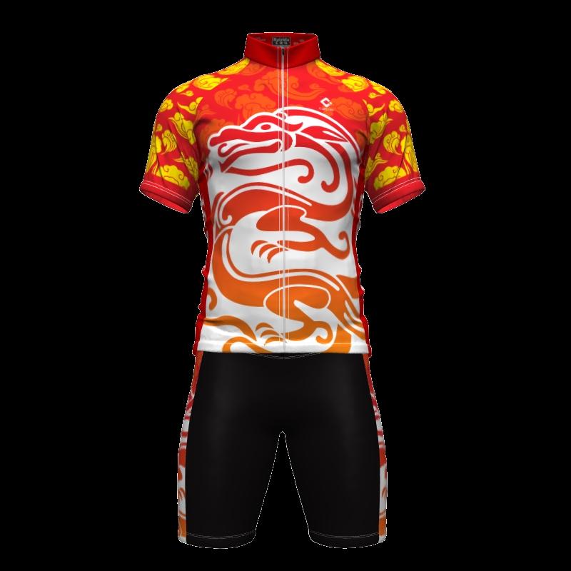 速干轮滑亲子骑行服男女儿童山地车透气套装中国夏季短袖速滑