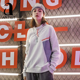 Autumn 2019 new hit color large size hip hop sweater female loose bf lazy wind tide ins coat cool street