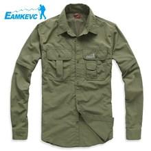 登山野营徒步速干衣男款 两截袖 衬衣 Eamkevc 伊凯文户外服装图片