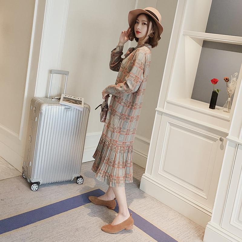 秋季哺乳衣时尚外出装中长款雪纺哺乳连衣裙春夏潮妈产后喂奶衣