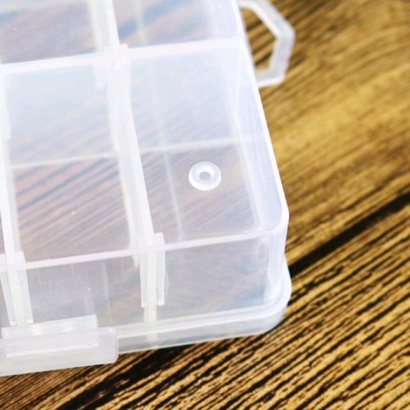 多格塑料首饰盒耳钉储物盒五金配件工具串珠收纳盒鱼饵归纳盒药盒