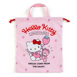 Japan Sanrio Genuine Hello Kitty Portable Drawstring Bag Drawstring Bag Storage Bag L