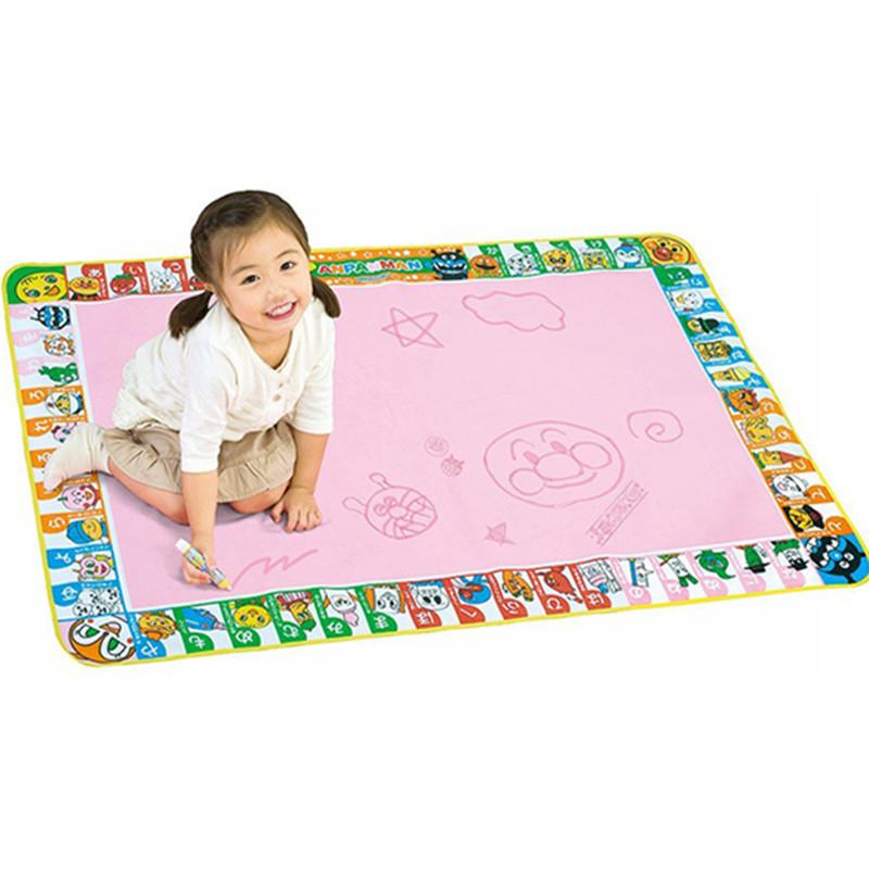 现货日本进口面包超人儿童神奇水画布水洗画毯涂鸦不脏手反复使用