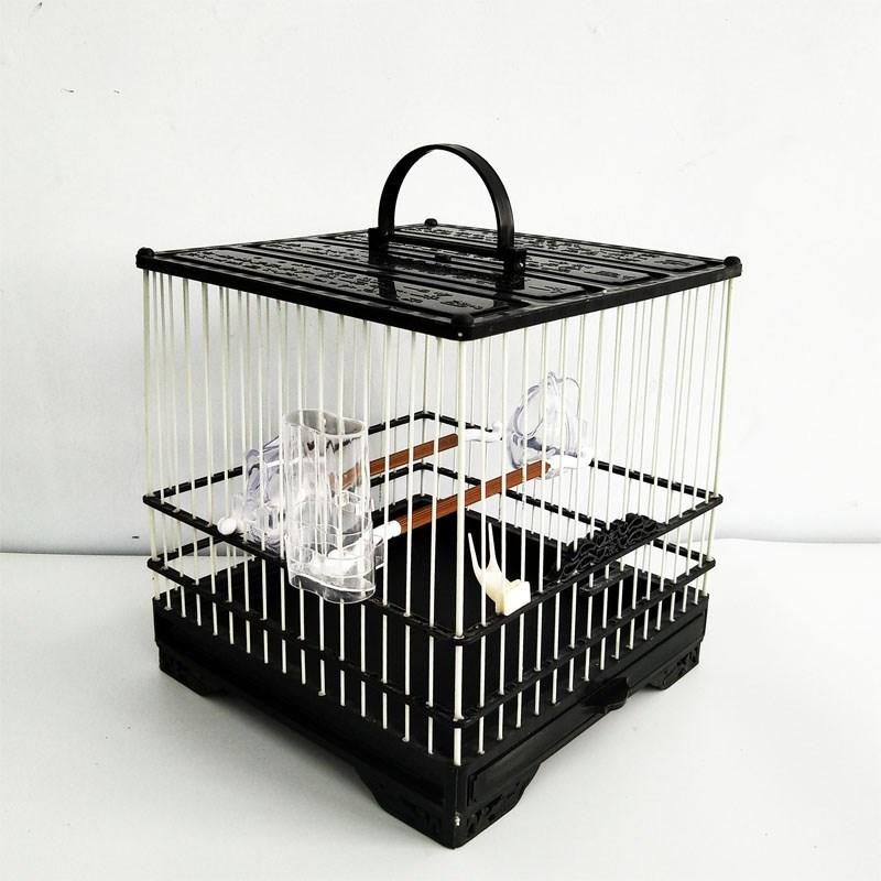 洗澡三代式塑钢抽屉板顶塑料绣眼抽屉山雀玻璃钢方笼鸟笼笼包邮