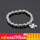 2013情人节礼物 情侣男女幸福四叶草弹力手链 B50049