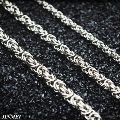 钛钢项链男泰国佛牌编织链无吊坠裸链加长款单链子55 60 70 80CM