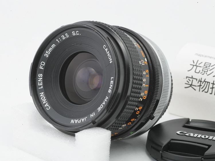佳能Canon FD 35mm f3.5 35 3.5人文手动镜头可转接微单相机