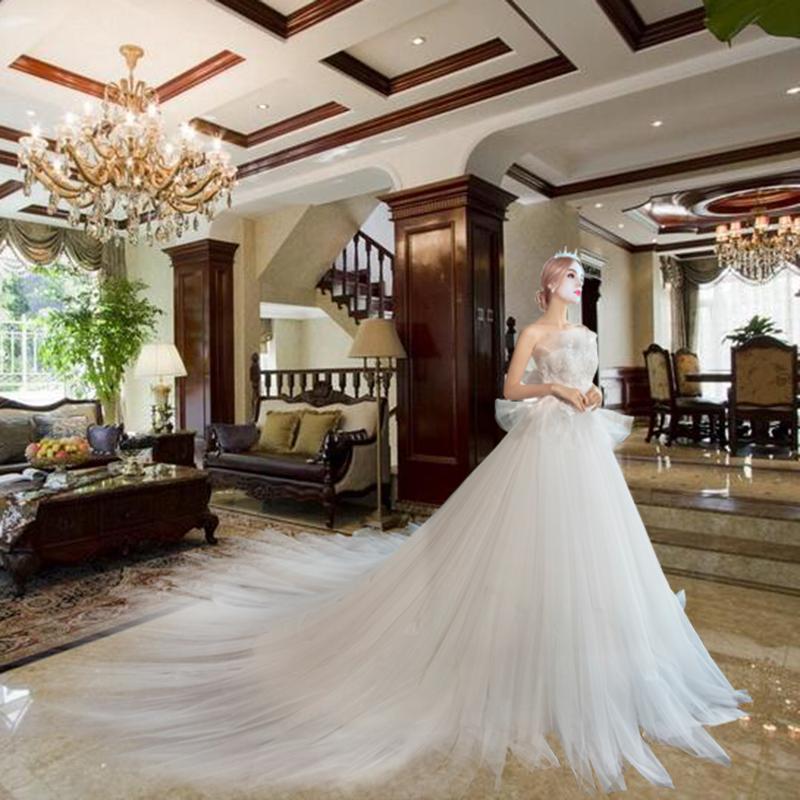 蕾丝蓬蓬婚纱