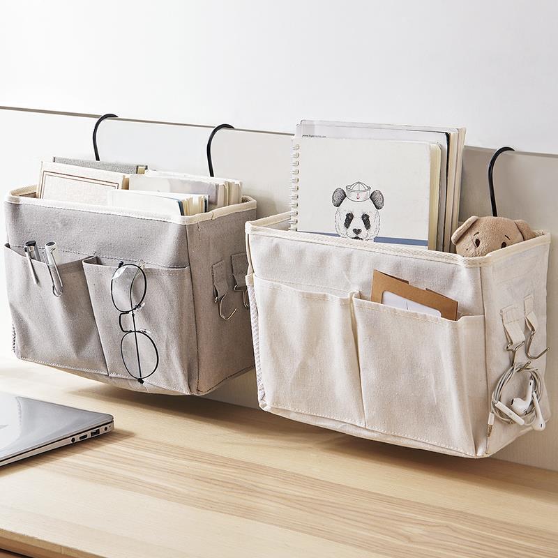 学生宿舍上铺床边收纳袋挂袋床边置物架悬挂式储物神器床上储物袋