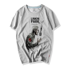 摇滚乐队linkinpark林肯联合公园混合理论纯棉圆领短袖T恤男夏季