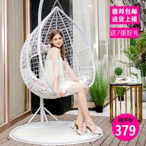 秋千野餐夏季欧式轻便绑绳用品学生单人室内吊床户外防蚊唐装
