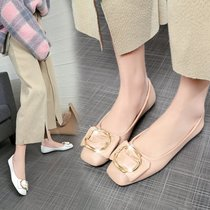 A7422301千百度春秋季新品商场同款小香风平底女鞋单鞋C.BANNER