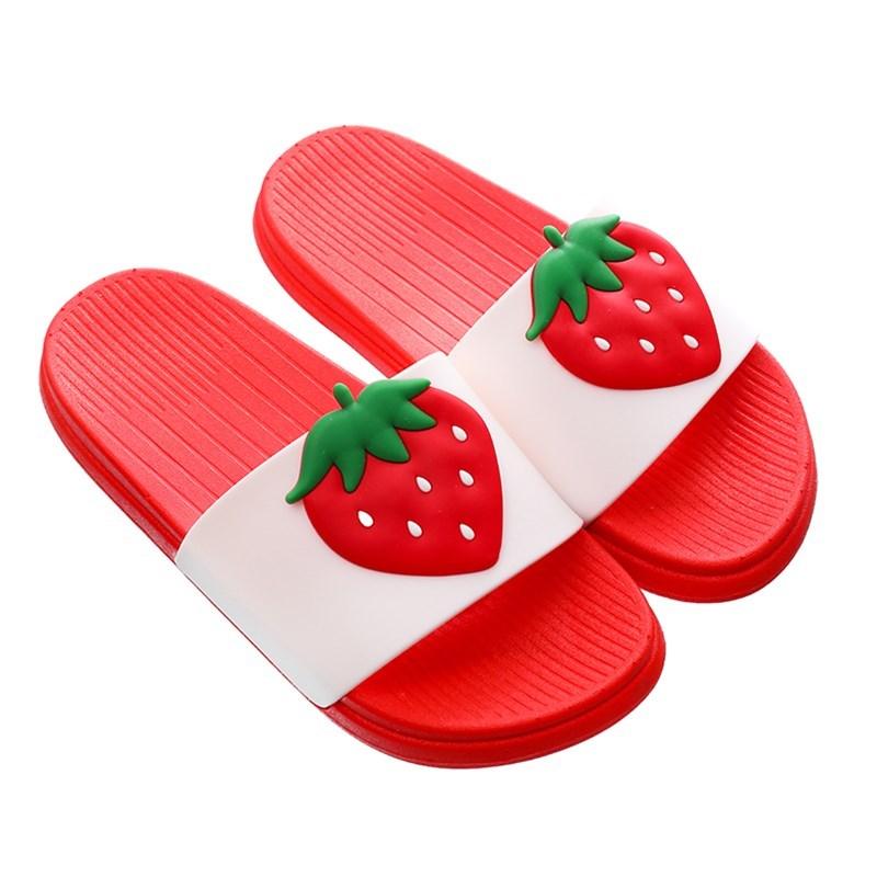 儿童拖鞋夏女童一家三口可爱亲子居家室内宝宝防滑软底水果凉拖鞋