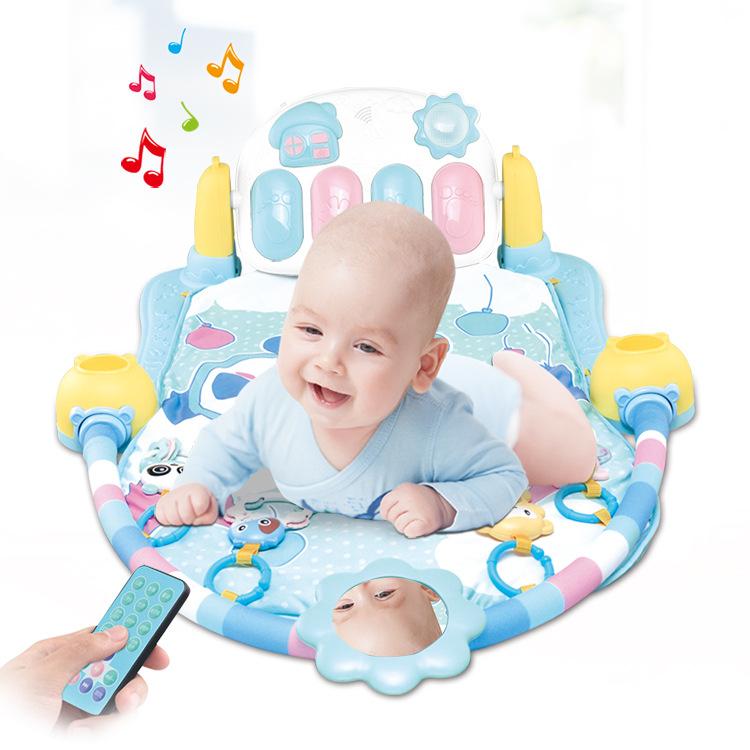遥控婴幼儿电动健身架音乐弹琴助睡灯光锻炼健身床摇椅摇床座椅