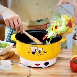 小型炒菜多功能一体式不粘锅炒锅家用炖2人4蒸煮家电厨房电器。图片