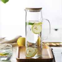 Cold water bottle glass bottle pot heat-resistant high temperature household teapot cool white water cup explosion-proof large capacity water bottle set