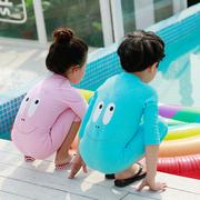 韩国儿童泳衣女童宝宝男孩女孩长袖长裤连体防晒男童冲浪潜水服