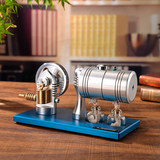All metal startable steam engine model engine retro with heating boiler alcohol lamp K-005
