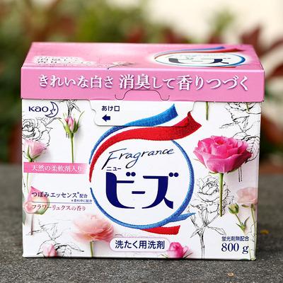 日本原装进口正品KAO花王洗衣粉玫瑰果香柔顺不含荧