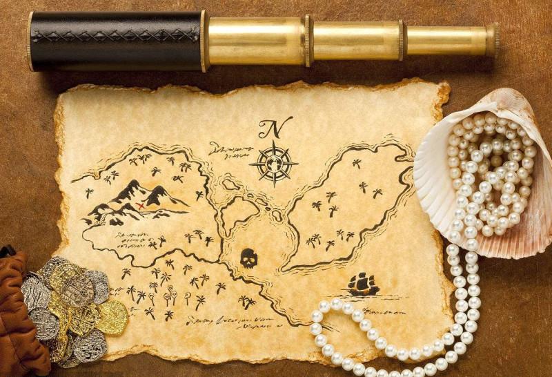 羊皮地图藏宝图羊皮纸书写复古道具酒店景区墙壁装饰羊皮画