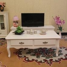 新款实木 欧式茶几 现代简约白色茶几 韩式风格话几田园咖啡桌