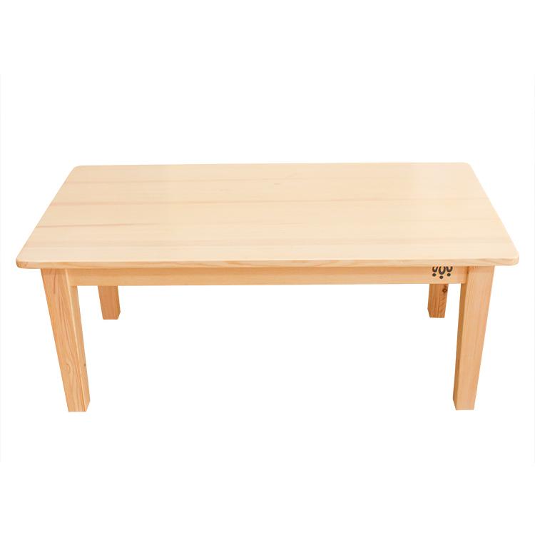 华德福生活馆 樟子松实木桌子 幼儿园长方桌 儿童餐桌写字台