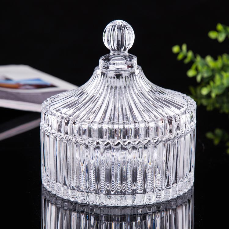 包邮欧式水晶玻璃糖果盅储物干果罐饰品盒烟灰缸婚庆装饰器皿摆件