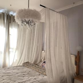 现代水晶灯田园时尚北欧吊灯 餐厅灯客厅卧室灯具 欧式简约羽毛灯