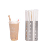 One-time environmental paper straw individually wrapped tea biodegradable builders, pearl milk tea straw coarse mesh big red