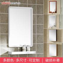 上海实木定制卫生间镜柜定做浴室镜柜实木橡木烤漆镜柜带灯槽镜柜