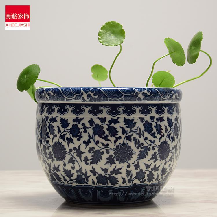 景德镇瓷器花盆