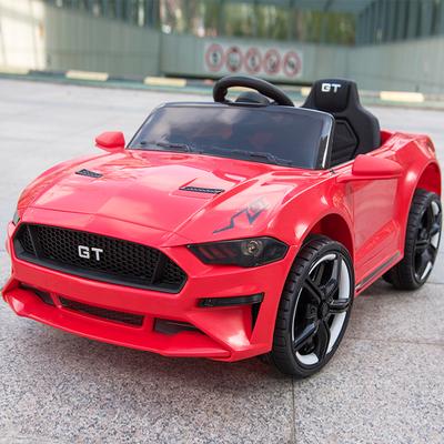 福特野马GT超大号婴儿童电动车四轮遥控汽车可坐小孩摇摆宝宝玩具