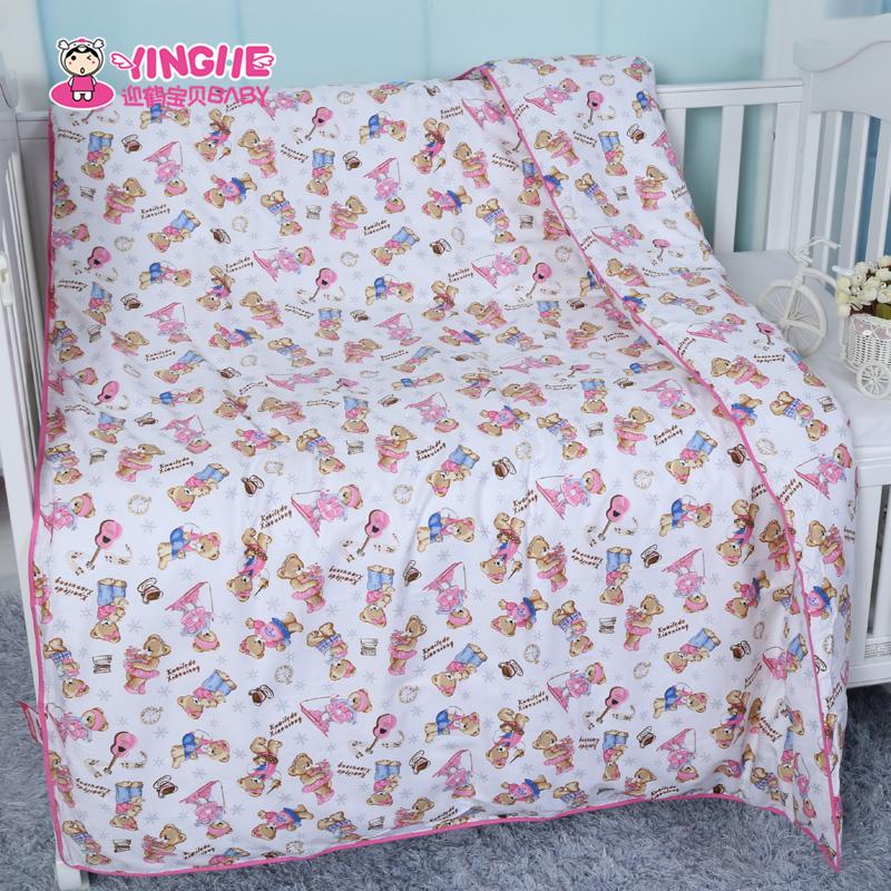 迎鹤儿童被套幼儿园宝宝小孩婴儿纯棉全棉卡通被罩120*150cm