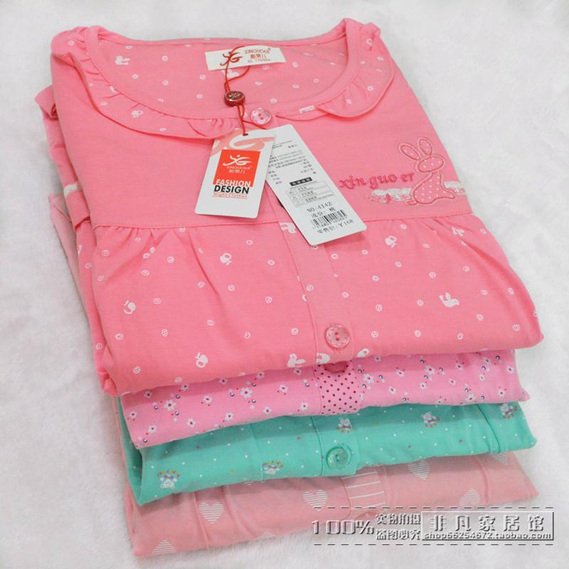 家居服套装 夏季短袖 睡衣女士纯棉卡通加大码 男士 七分裤 新果儿特价