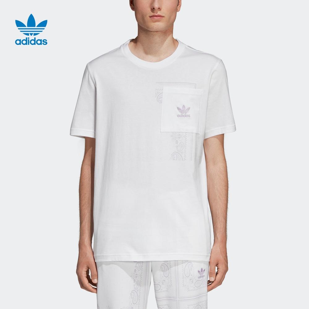 阿迪达斯官网adidas 三叶草男装运动短袖T恤DX3657 DX3658