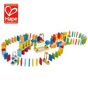 德国hape儿童多米诺宝宝创意早教益智启蒙木质积木骨牌玩具