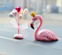 汽车摆件创意饰品真獭兔毛披肩婚纱卡通娃娃女士时尚车用装饰礼品