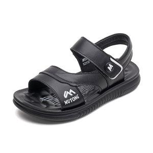 牧童童鞋2018夏季新款牛皮透气凉鞋运动沙滩鞋舒适耐磨男童凉鞋子