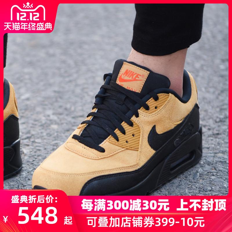 耐克男鞋2019冬季新款AirMax90翻毛皮运动休闲鞋跑步鞋AJ1285-700