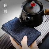 Four-color cotton tea towel Japanese tea towel tea towel square tea table cloth plus thick strong absorbent water-absorbing square kung fu tea set accessories