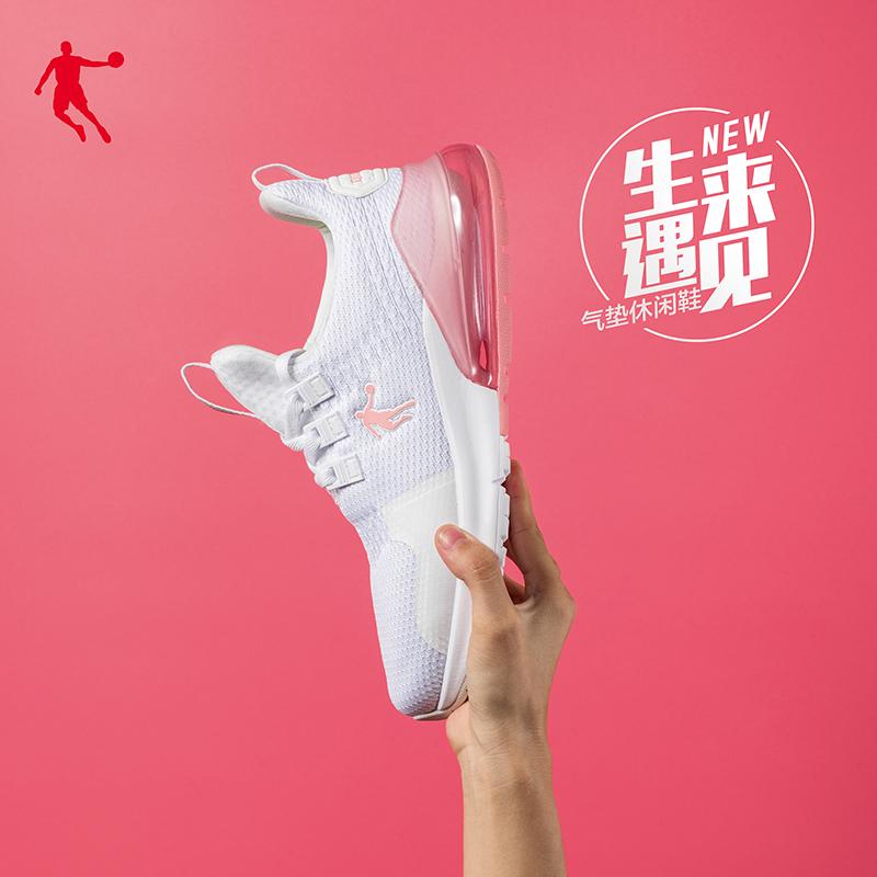 乔丹女鞋运动鞋女2019春季新款网面透气休闲鞋子跑步鞋女气垫鞋女