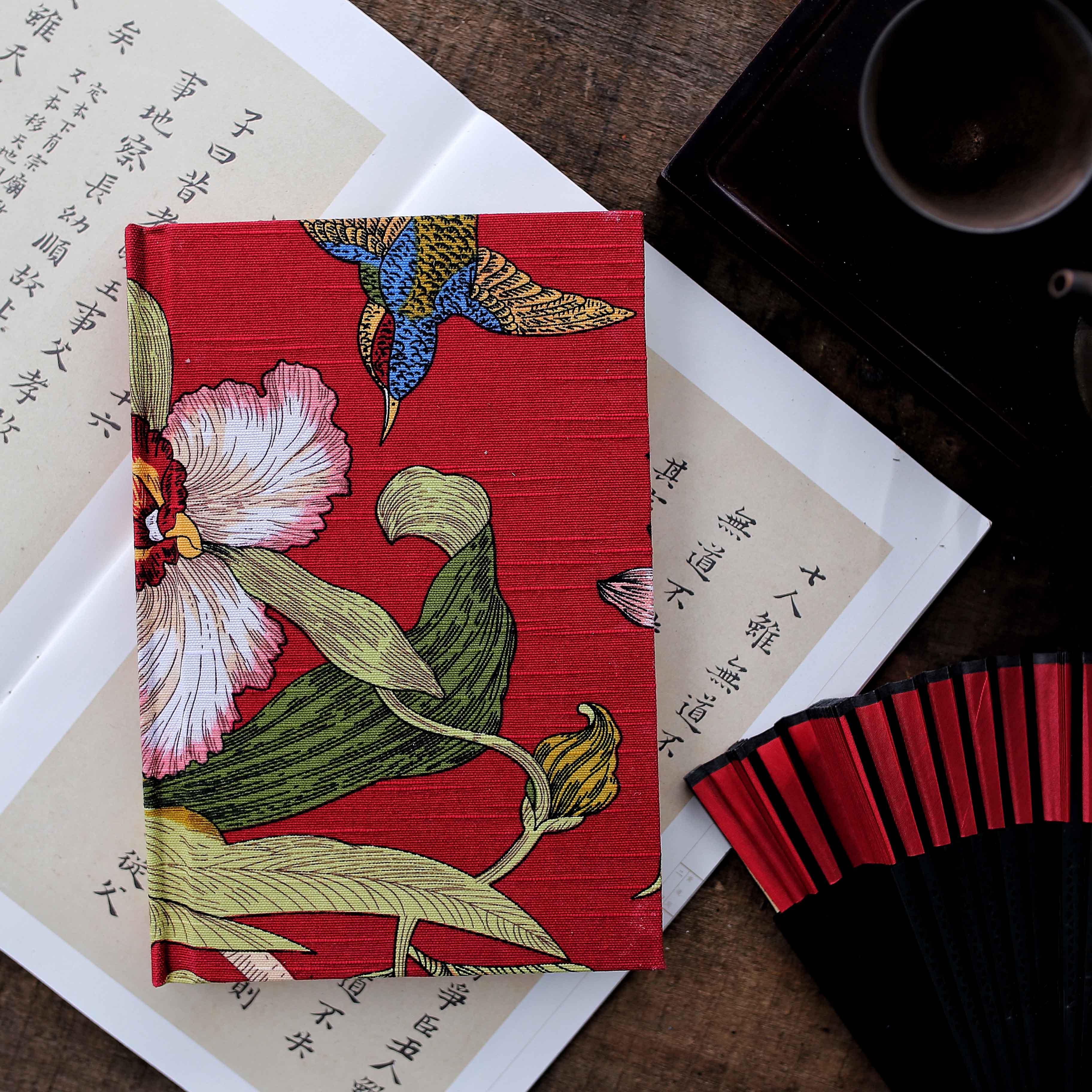 【韵也】原创手工珍藏送人 日记本 手账本子 a5 随记本 花艺 诗意