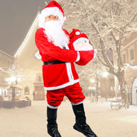 Adult clothing thick velvet Santa Claus clothing adult men and women clothes Santa Claus suit fluffy side