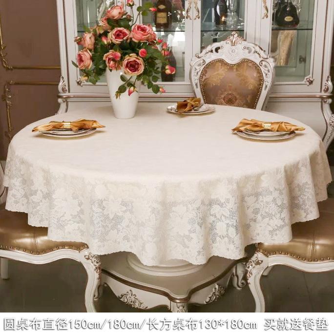日本进口圆桌布防水防油免洗pvc餐桌布大圆桌桌布欧式贾乃亮家用5元优惠券