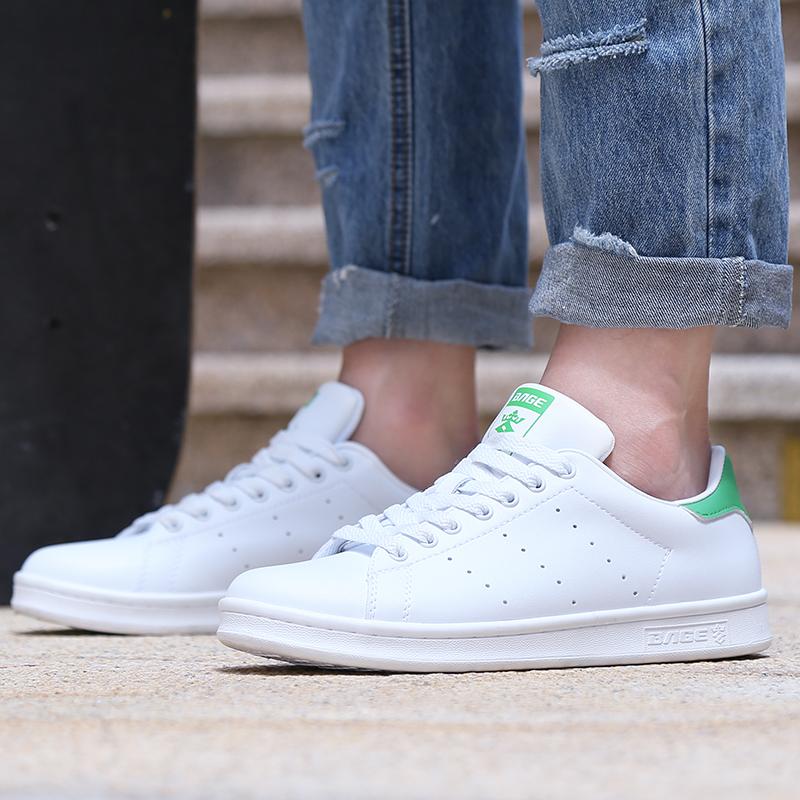 八哥史密斯板鞋绿尾小白鞋冬季男鞋休闲鞋滑板鞋情侣运动鞋潮鞋子
