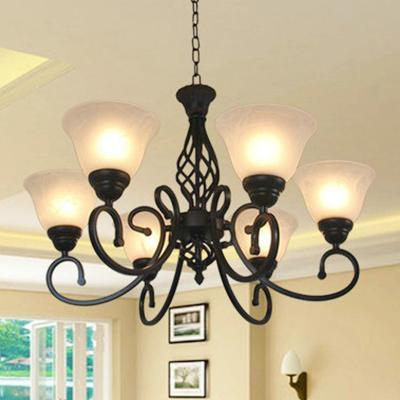 美式吊灯简约创意灯饰客厅卧室灯田园餐厅灯欧式复古铁艺吊灯