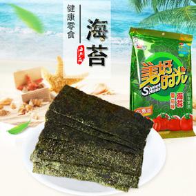 喜之郎 美好时光海苔19.5克(番茄味)袋装 即食紫菜海苔休闲零食